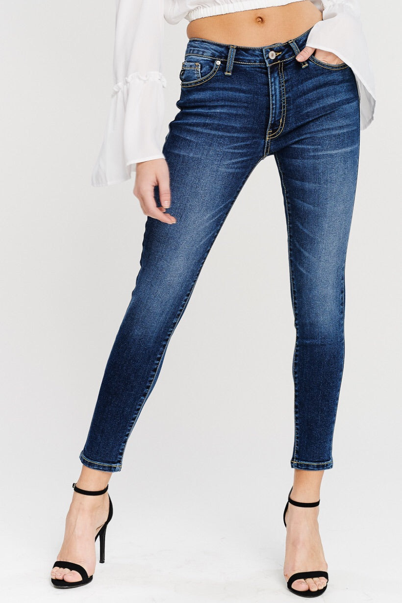 Medium dark denim jeans