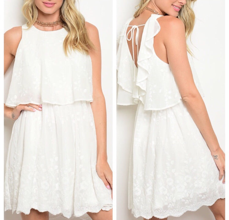White Layered Dress