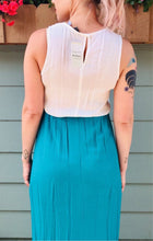 Teal and White Maxi Dress