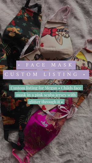 Custom listing for Megan - pink child's face mask