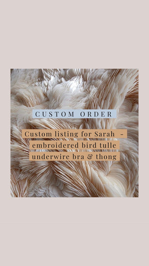 Custom listing for Sarah - underwire bra and thong