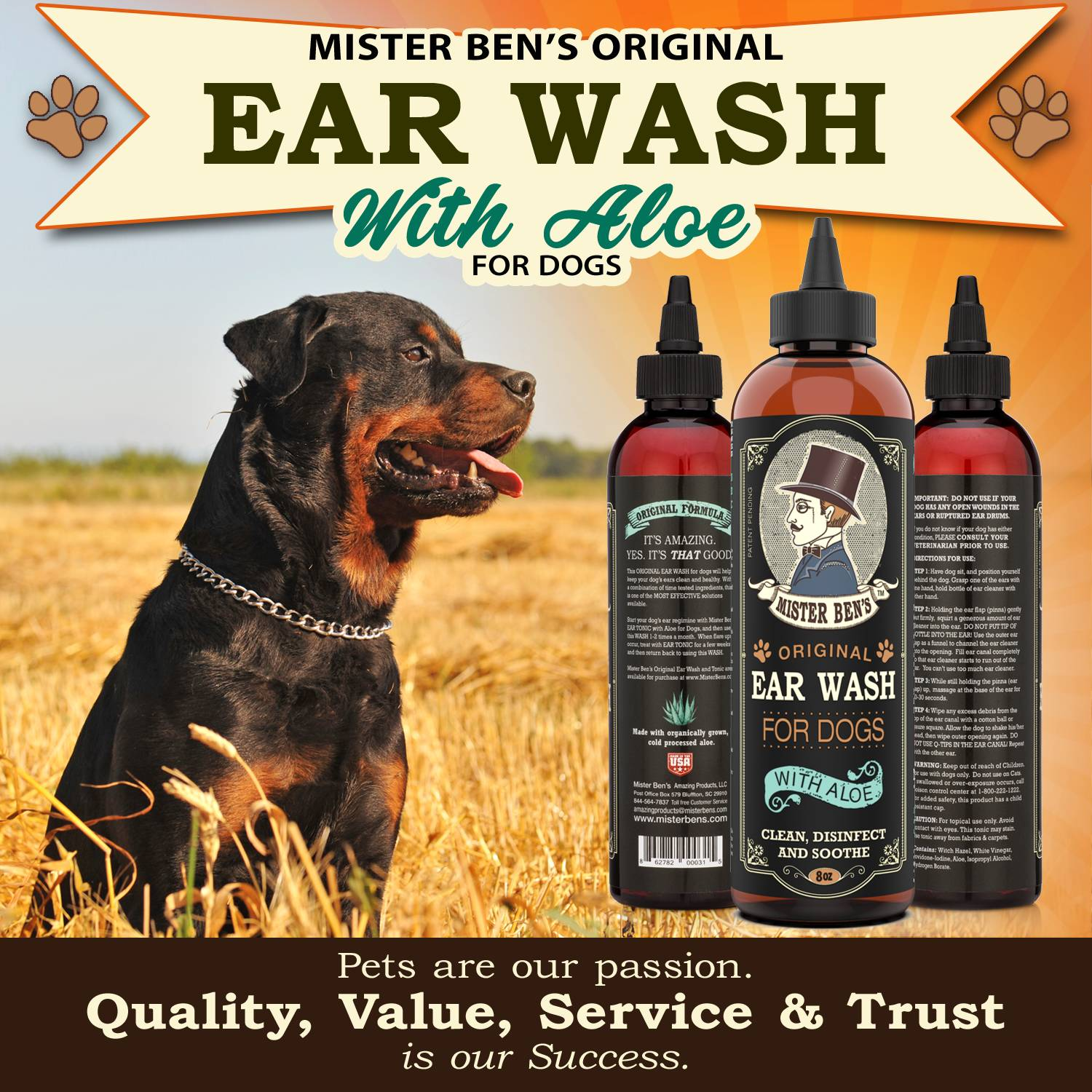 Ear wash for dogs mister bens amazing products ear wash for dogs mister bens amazing products solutioingenieria Image collections