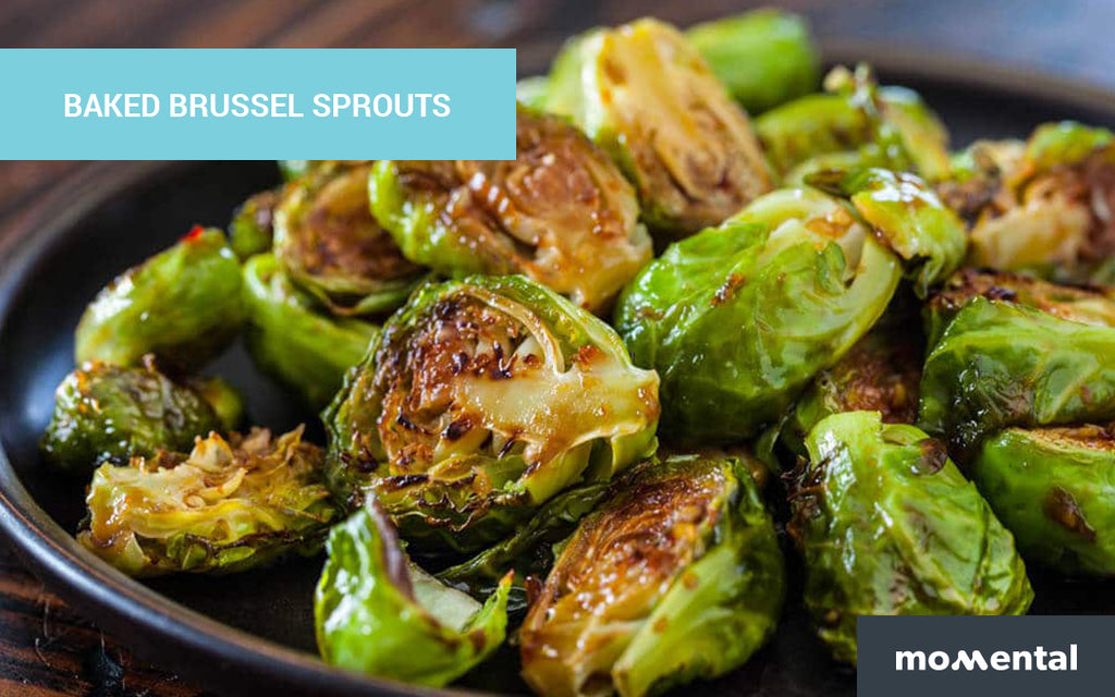 Baked Brussel Sprouts, Crispy Taro, and Carrot Salad with Smart Dressing | Momental