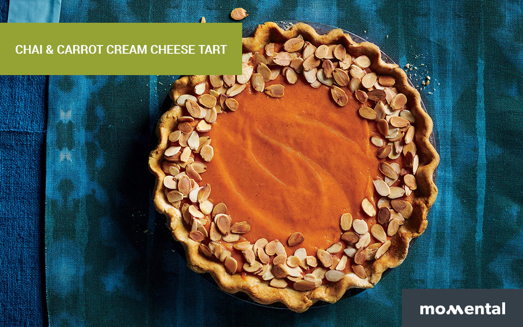 Chai & Carrot Vegan Cream Cheese Tart | Momental Nootropics