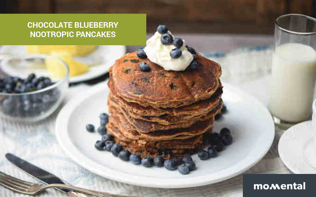 Chocolate Blueberry Nootropic Pancakes | Momental Nootropics