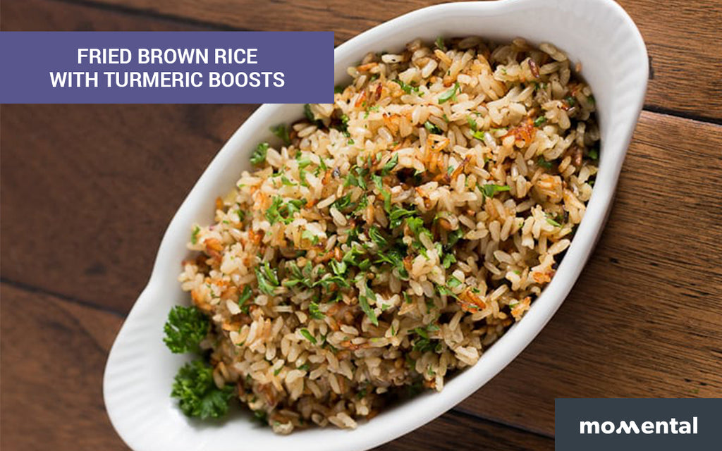 Fried Brown Rice with Turmeric Boosts | Momental Nootropics