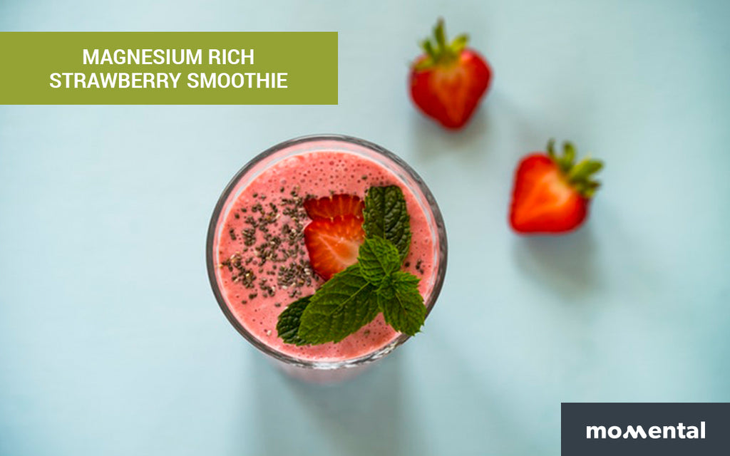 Magnesium Rich Strawberry Smoothie | Momental Nootropics