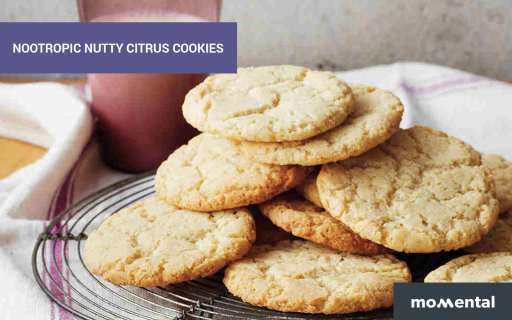 Nootropic Nutty Citrus Cookies | Momental