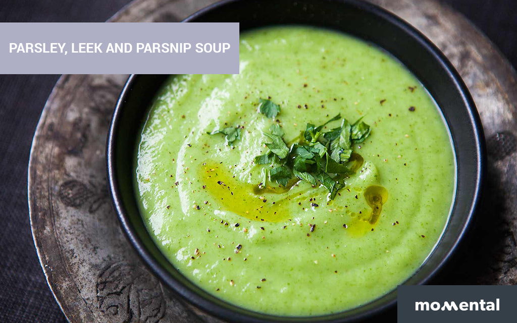 Parsley, Leek and Parsnip Soup | Momental Nootropics