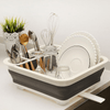 Collapsible Dish Organizer with Drain Hole