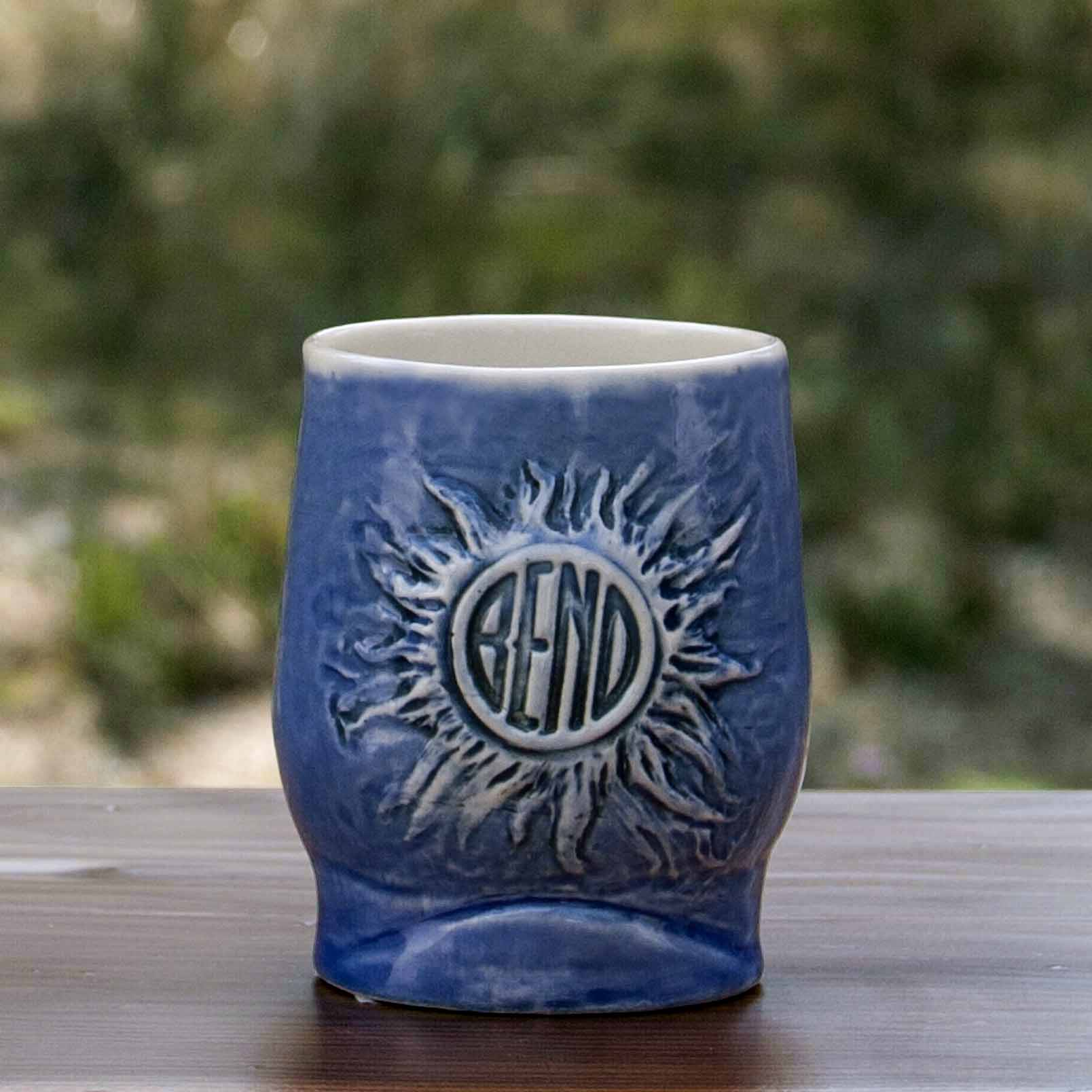 Blue Cascade Skyline Tumbler Back