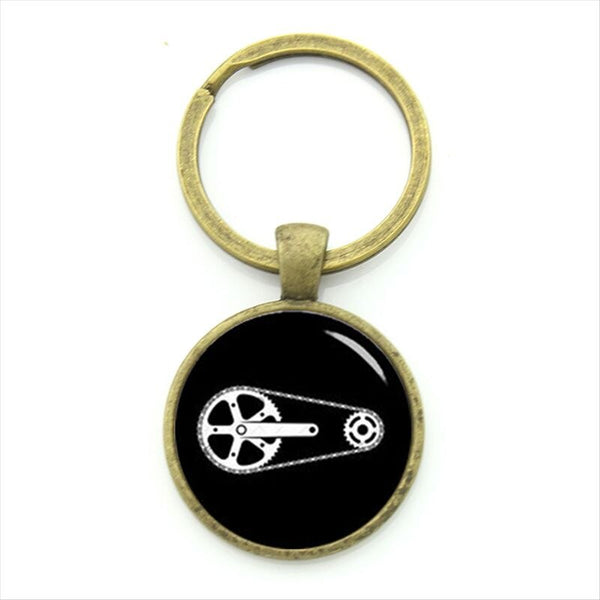 Sports Cyclist Keychain Minimalist Cycling Silhouette Art Key Chain Bicycle Bike Sportsmen Gifts Jewelry KC353