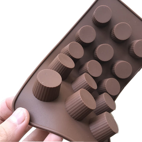 Food Grade Round Cylinder Style Chocolate Molds Even 15 Refractory High Temperature Oven With Chocolate Pudding Ice Mold H535