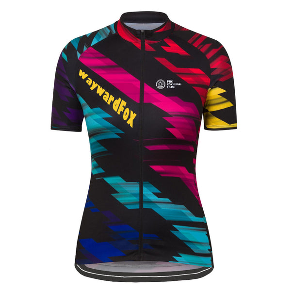 2017 Women's Team Cycling jersey Short Sleeve WaywardFox Cycling Clothing Road Racing Bicycle Wear 100% Polyester Breathable