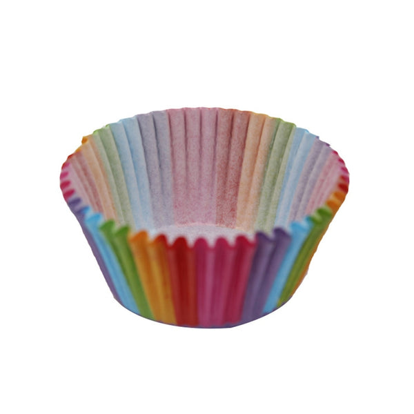 NEW 100Pcs Colorful Paper Box Cake Cupcake Liner Decorating Tools  Paper Cupcake Baking Muffin Case Cup Party Tray Cake Mold