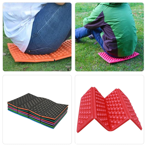 Soft Waterproof Dual Camping Hiking Picnic Portable Cushion Seat Pad Outdoor Folding Camping Moistureproof Cushion Mattress Pad