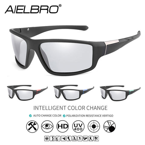 AIELBRO Cycling Sunglasses Photochromic Cycling Glasses Bicycle Bike Sports Man Cycling Glasses