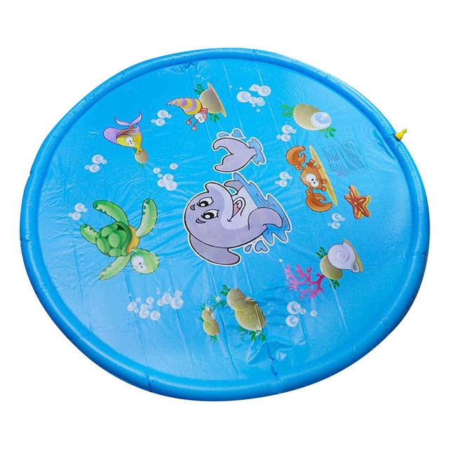Summer Outdoor Spray Water Cushion PVC Inflatable Spray Water Toys for Children Play Water Mat