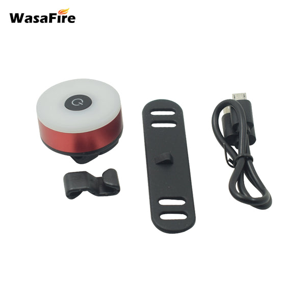 WasaFire Bicycle Tail Light USB Rechargeable Bike Rear Light Mini Flash Taillight Safety Warning Lights Cycling MTB Back Lamp