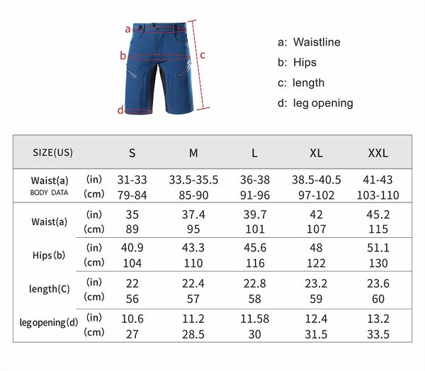 ARSUXEO 2020 Men's Cycling Shorts Loose Fit MTB Mountain Bike Shorts Outdoor Sports Hiking Downhill Bicycle Short Pants 2006