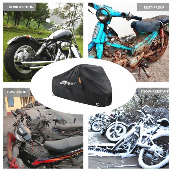 Motorcycle Cover Waterproof Outdoor Rain Dust UV Scooter Motorbike Protector 3XL moto Cover Protector Dustproof Bike Bicycle