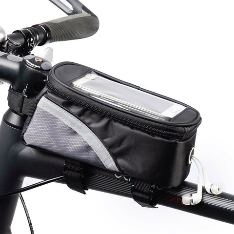 Cycling Bag Bicycle Bike Head Tube Handlebar Cell Mobile Phone Bag Case Holder Screen Phone Mount Bags Case With Touch screen