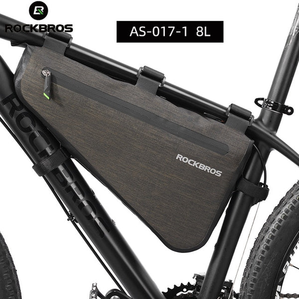ROCKBROS Cycling Bicycle Bags Top Tube Front Frame Bag Waterproof MTB Road Triangle Pannier Dirt-resistant Bike Accessories Bags