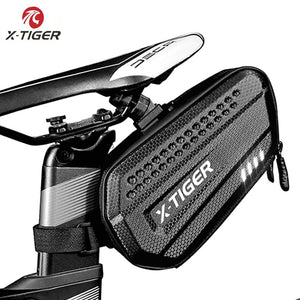X-TIGER Bike Bag Rainproof MTB Bike Saddle Bag For Cycling Seatpost Large Capatity Shockproof Rear Bicycle Bag Accessories