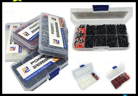 1500Pcs/Box badminton racket racquet grommets eyelets badminton strings hole protector tubes accessories stringing tools set