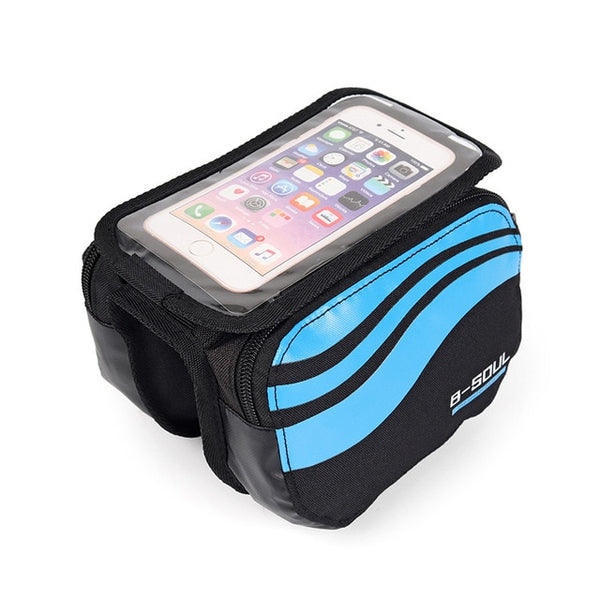 4 Types Bicycle Bags Rainproof Bicycle Front Touch Screen Phone Bag Mountain Bike Top Tube Bag Cycling Pannier Bag For Bicycle