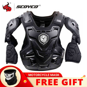 SCOYCO CE Motorcycle Body Armor Motocross Chest Back Protector Vest Motorcycle Jacket Racing Protective Body Guard MX Armor