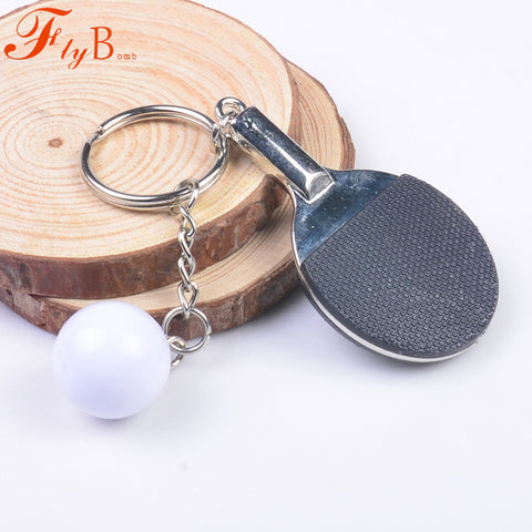Table Tennis Key Buckle Originality Metal Key Mini Handmade Souvenir Cute Piongpong Key-chain Bike Keyring Novelty Gift L755OLF