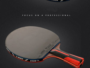Top Carbon Quality Black Blade S6 Table Tennis Bat Professional With Rubber Ping Pong Racket Paddle Table Tennis Racket
