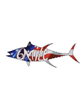 6MFC American Tuna Dye Cut 6 in Decal