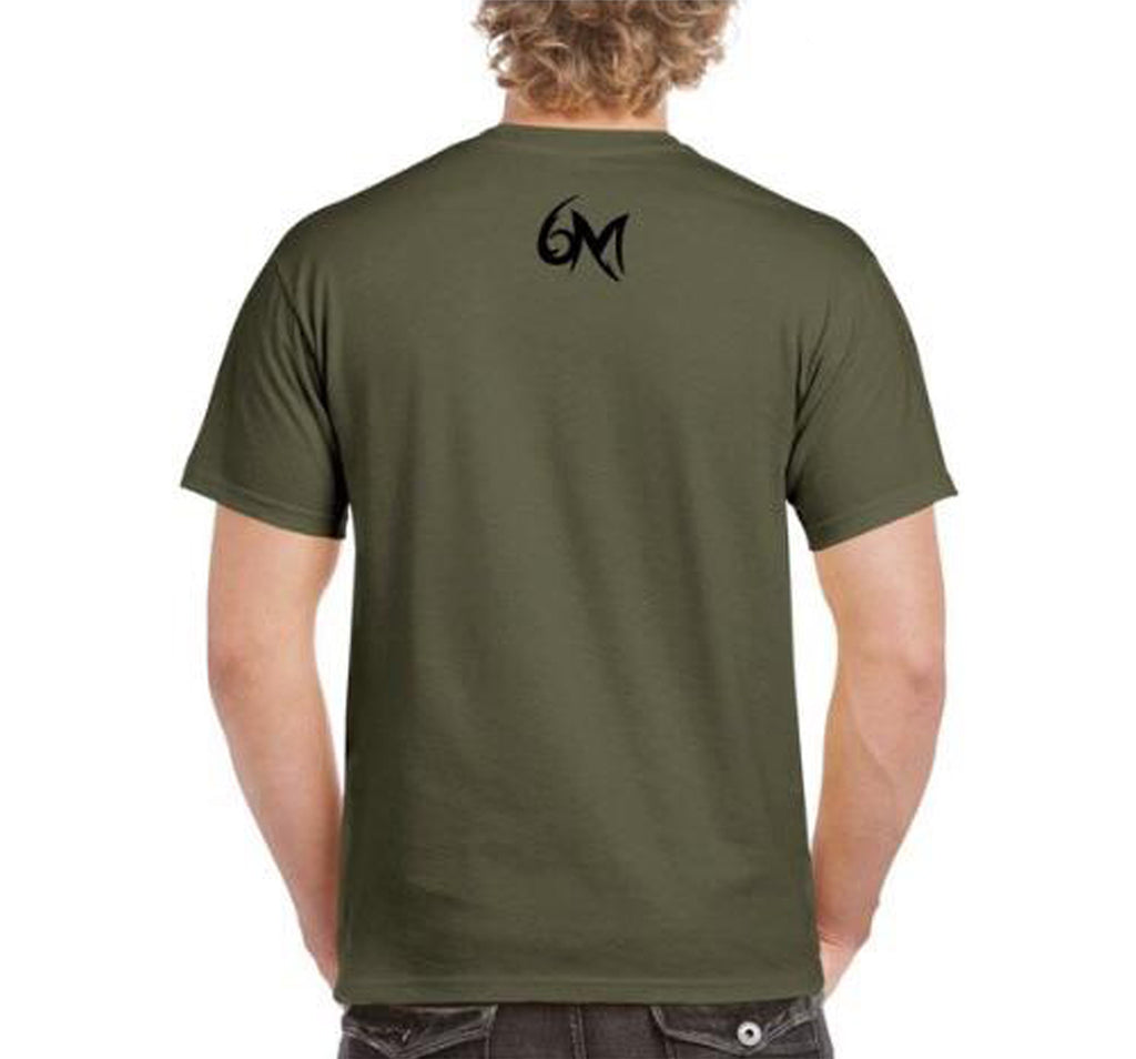 6MFC Army Green Logo Shirt