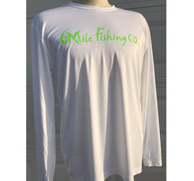 white / lime, 6MFC LS fishing shirt