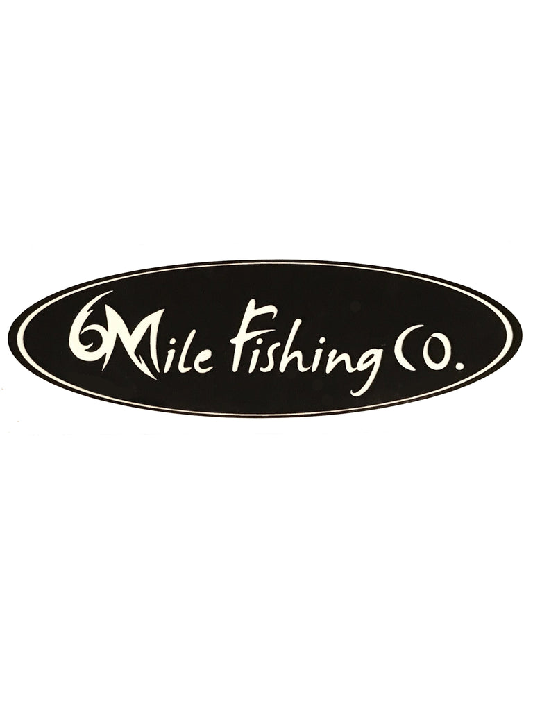 6MFC Oval Dye Cut Black Sticker