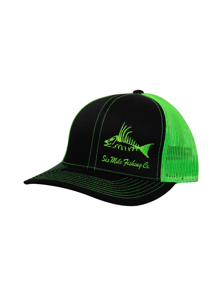 Six Mile Fish Co. Lime Hogfish hat