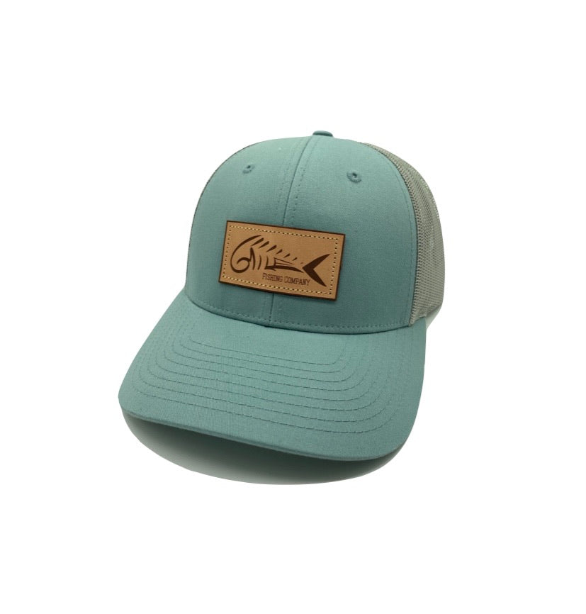 6MFC Leather Skeletal Dolphin Patch Hat