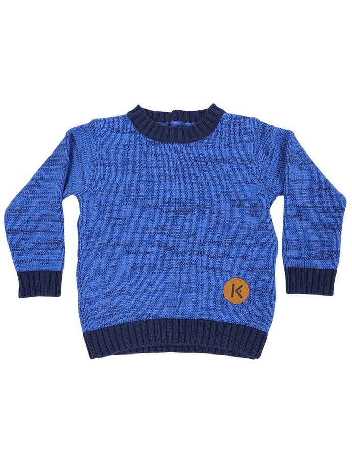 Korango Navy Fleck Sweater