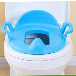 Toddler potty training seat blue