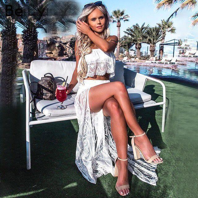 Cruise Vacation Cute Style Island French Travel Vegas Jumpsuit Party Lace Pool Beach Sexy