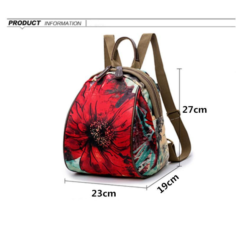 Parisian Flower Mini Travel Backpack