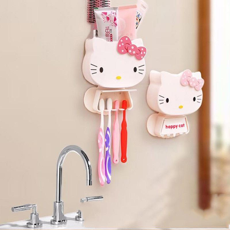 Pink Multifunction Kitty Kids Hello Happy Decoration Cute Cat Cartoon Bathroom