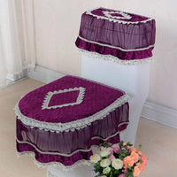 Lace Bathroom Set Toilet Cover