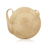 Vintage Travel Straw Round Handbags Girls Designer Circle Beach Bamboo Bags