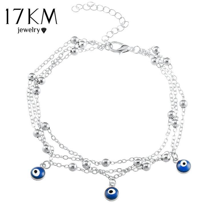Bohemian Turkish Evil Eye Pendant Bracelets for Ankles