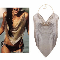Sexy Sequins Metal Mesh Jewelry Club Chain Beaded Beach