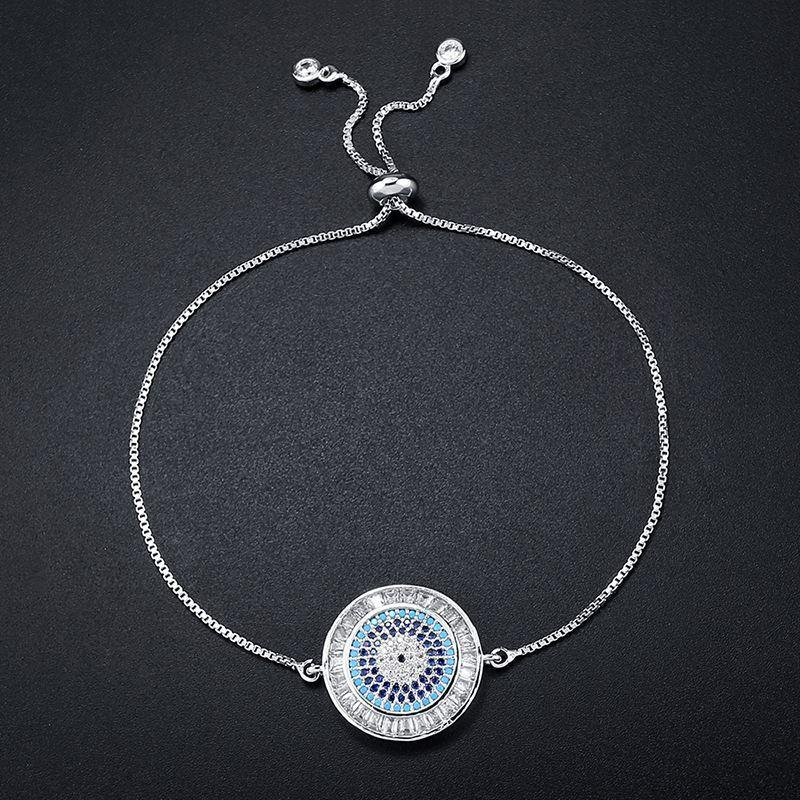 Bracelet Silver Blue Gift Energy Bad Eye Turkish Evil Diamond High Quality