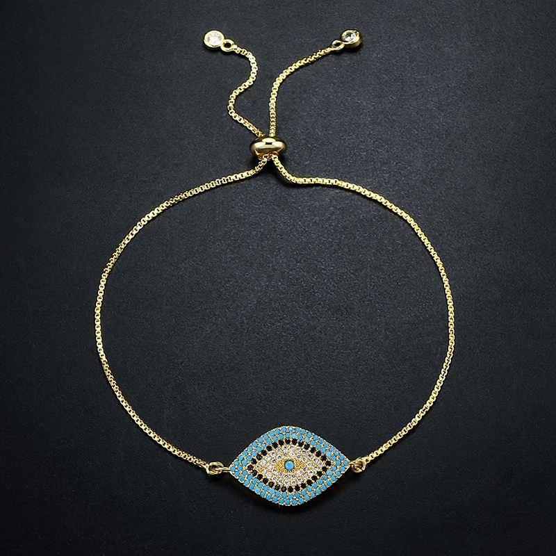 Turkish Gold Evil Eye Bracelet